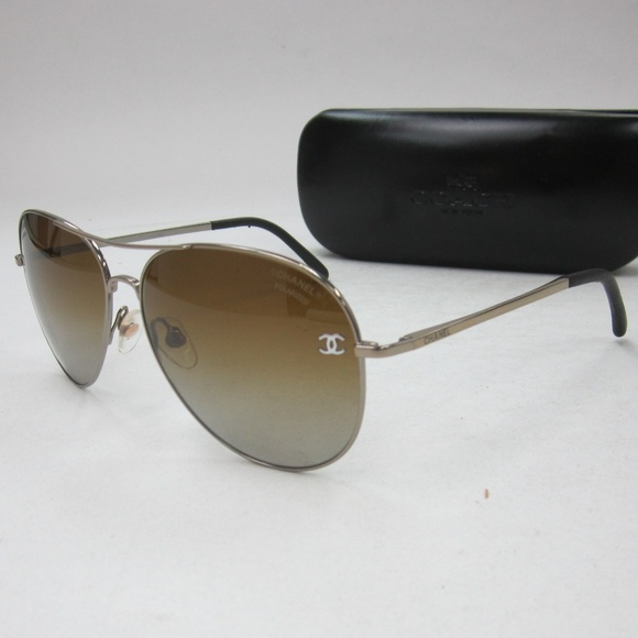 d4ef55973d36 CHANEL Accessories - Chanel 4189-T-Q Aviator Sunglasses Italy OLN379
